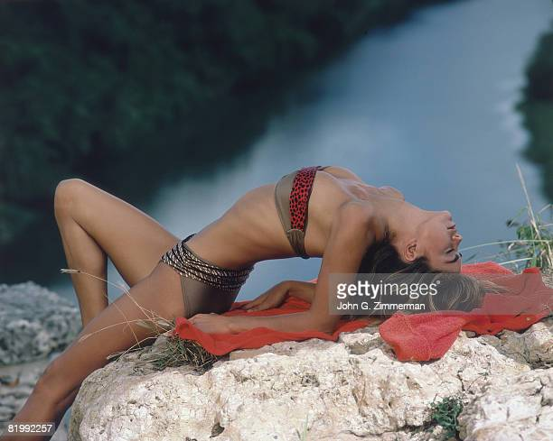 Swimsuit Issue 1987 Model Kathy Ireland poses for the 1987 Sports Illustrated swimsuit issue on September 24 1986 in the Dominican Republic PUBLISHED...