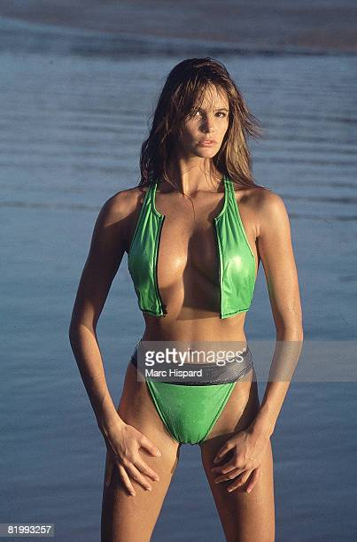 Swimsuit Issue 1988 Model Elle Macpherson poses for the 1988 Sports Illustrated swimsuit issue on February 8 1988 in Chiang Mai Thailand PUBLISHED...