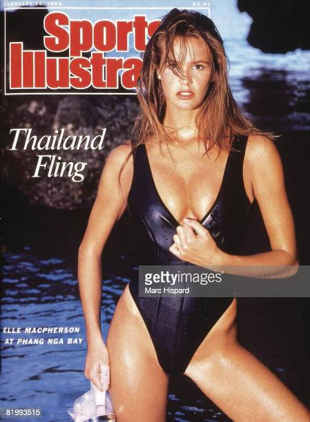 Swimsuit Issue 1988 Model Elle Macpherson poses for the 1988 Sports Illustrated swimsuit issue on February 8 1988 in Chiang Mai Thailand COVER IMAGE...