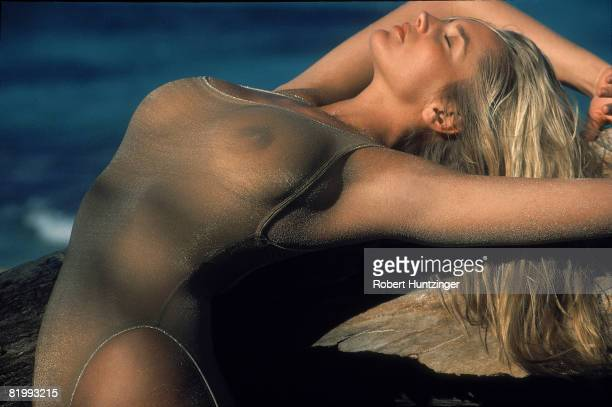 Swimsuit Issue 1990 Model Ashley Richardson poses for the 1990 Sports Illustrated Swimsuit issue on January 19 1990 on Saint Vincent and the...