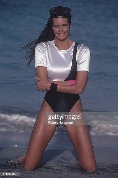 Swimsuit issue 1990 Model Elle Macpherson poses for the 1990 Sports Illustrated Swimsuit issue on January 19 1990 in Kingstown Saint Vincent and The...