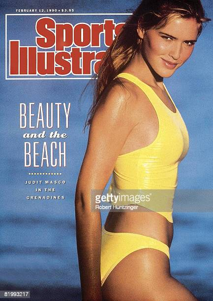 Swimsuit Issue 1990 Model Judit Masco poses for the 1990 Sports Illustrated Swimsuit issue on January 19 1990 on Palm Island in Saint Vincent and the...