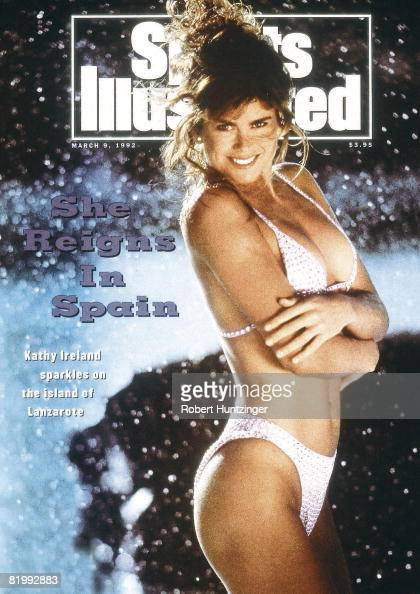 Model Kathy Ireland poses for the 1992 Sports Illustrated