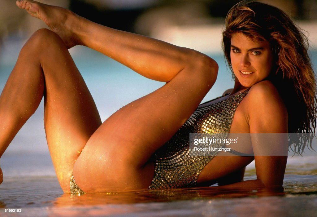 cf59425ca6adc Model Kathy Ireland poses for the 1992 Sports Illustrated Swimsuit ...
