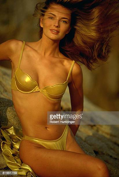 Swimsuit Issue 1992 Model Paulina Porizkova poses for the 1992 Sports Illustrated Swimsuit issue on November 1 1991 in Girona Spain PUBLISHED IMAGE...