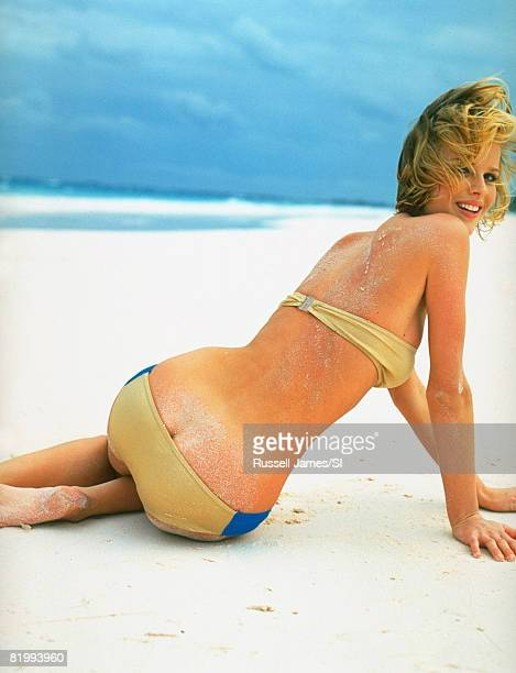 Swimsuit Issue 1997 Model Eva Herzigova poses for the 1997 Sports Illustrated Swimsuit issue on January 1 1997 on Harbour Island Bahamas PUBLISHED...