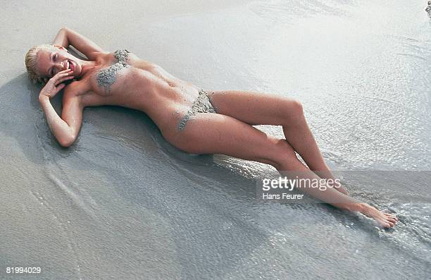 Swimsuit Issue 1999: Model Sarah O'Hare is photographed for the 1999 Sports Illustrated Swimsuit issue on February 1, 1999 in the British Virgin...