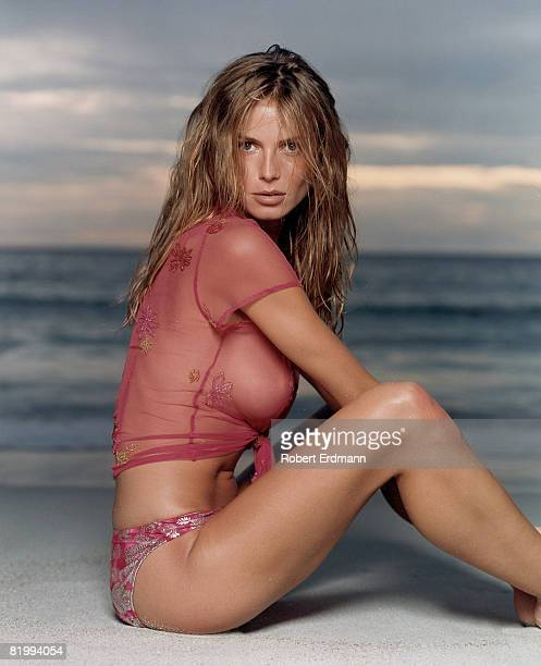 Swimsuit Issue 2000: Model Heidi Klum poses for the 2000 Sports Illustrated Swimsuit issue on August 20, 1999 in Malaysia. CREDIT MUST READ: Robert...