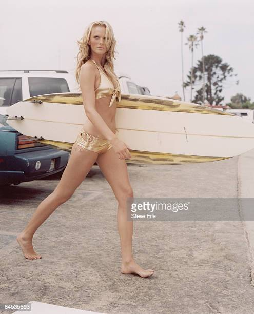 Swimsuit Issue 2006 Model Anne V poses for the 2006 Sports Illustrated Swimsuit issue on August 14 2005 in Hollywood California PUBLISHED IMAGE...