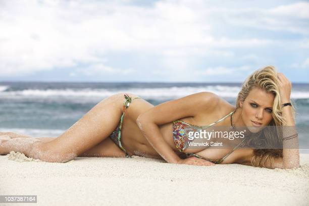Model Brooklyn Decker poses for the 2011 Sports Illustrated Swimsuit issue on January 25 2011 on Peter Island in the British Virgin Islands PUBLISHED...