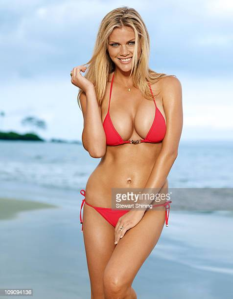 Model Brooklyn Decker poses for the 2011 Sports Illustrated Swimsuit issue on May 1 2010 in Wailea Hawaii PUBLISHED IMAGE CREDIT MUST READ Stewart...