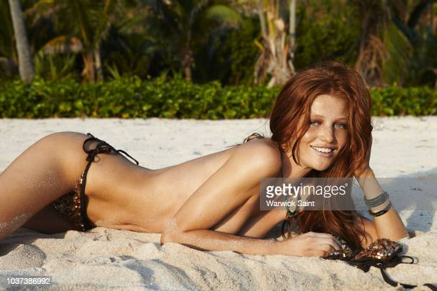 Model Cintia Dicker poses for the 2011 Sports Illustrated Swimsuit issue on January 19 2011 on Peter Island in the British Virgin Islands PUBLISHED...