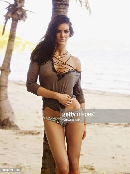Model Hilary Rhoda poses for the 2011 Sports Illustrated Swimsuit issue on January 16 2011 on Peter Island in the British Virgin Islands PUBLISHED...