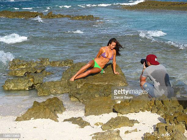 Swimsuit Issue 2012 Behind the scenes of the 2012 Sports Illustrated Swimsuit issue photographed in 2011 in Seychelles Pictured photographer James...