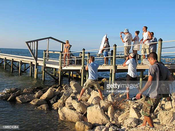 Swimsuit Issue 2012 Behind the scenes of the 2012 Sports Illustrated Swimsuit issue photographed on October 11 2011 in Apalachicola Florida Pictured...
