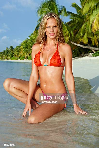 Swimsuit Issue 2012 Model Anne V poses for the 2012 Sports Illustrated Swimsuit issue on August 23 2011 in Seychelles PUBLISHED IMAGE CREDIT MUST...