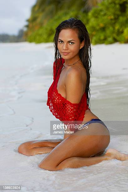 Swimsuit Issue 2012 Model Christine Teigen poses for the 2012 Sports Illustrated Swimsuit issue on August 30 2011 in Seychelles PUBLISHED IMAGE...