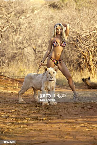 Swimsuit Issue 2012 Model Genevieve Morton poses for the 2012 Sports Illustrated Swimsuit issue on October 8 2011 in Zambia PUBLISHED IMAGE CREDIT...