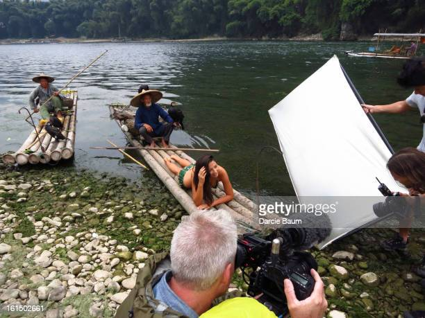 Swimsuit Issue 2013 Behind the scenes of the 2013 Sports Illustrated Swimsuit issue on September 16 2012 in Guilin China Pictured model Jessica Gomes...