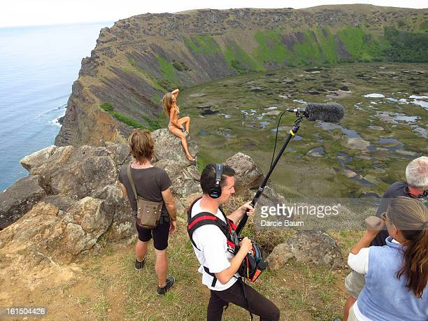 Swimsuit Issue 2013 Behind the scenes of the 2013 Sports Illustrated Swimsuit issue on October 27 2012 on Easter Island Chile Pictured model Jessica...