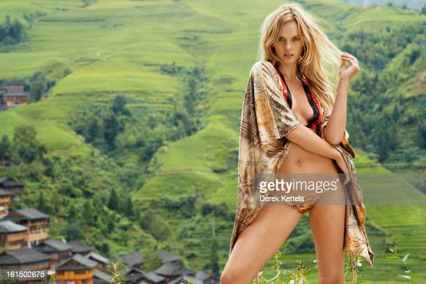 Swimsuit Issue 2013 Model Anne V poses for the 2013 Sports Illustrated Swimsuit issue on September 12 2012 in Guilin China PUBLISHED IMAGE CREDIT...