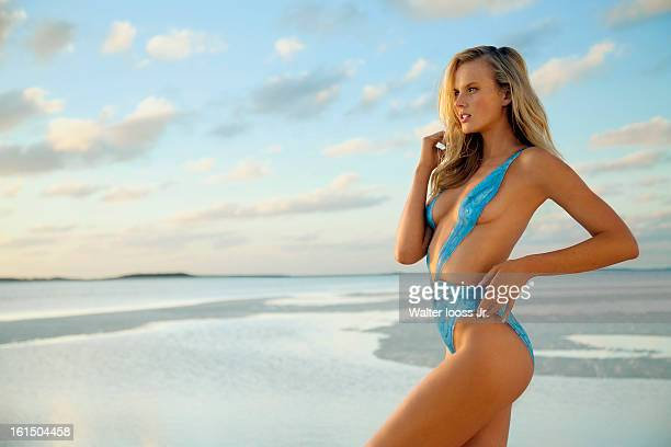 Swimsuit Issue 2013 Model Anne V poses for the 2013 Sports Illustrated Swimsuit issue on December 20 2012 in Great Exuma Island Bahamas PUBLISHED...