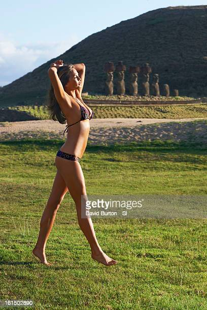 Swimsuit Issue 2013 Model Christine Teigen poses for the 2013 Sports Illustrated Swimsuit issue on October 27 2012 on Easter Island Chile PUBLISHED...