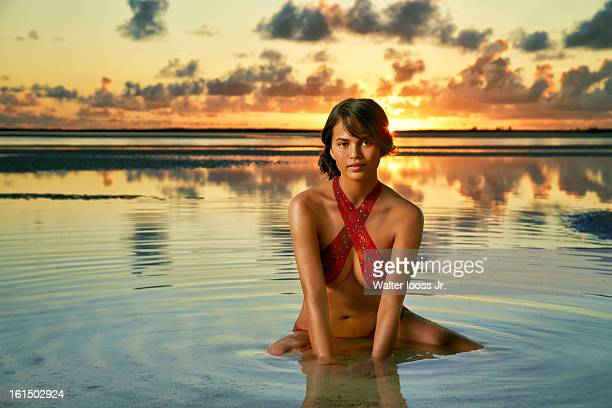 Swimsuit Issue 2013 Model Christine Teigen poses for the 2013 Sports Illustrated Swimsuit issue on December 7 2012 in Great Exuma Island Bahamas...