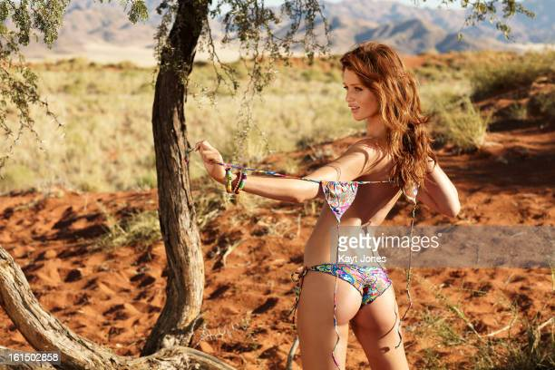Swimsuit Issue 2013 Model Cintia Dicker poses for the 2013 Sports Illustrated Swimsuit issue on June 11 2012 in Namibia PUBLISHED IMAGE CREDIT MUST...