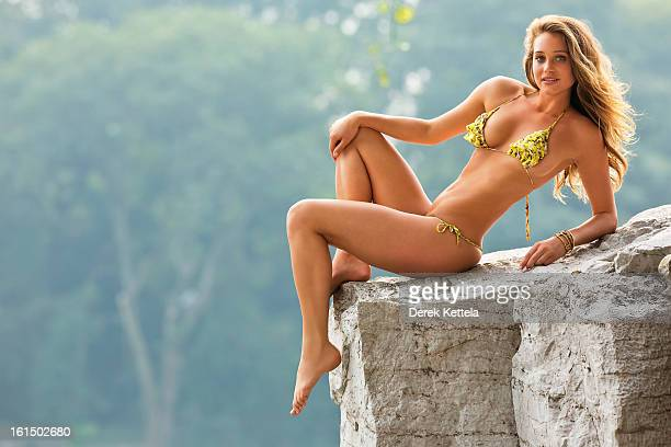 Swimsuit Issue 2013 Model Hannah Davis poses for the 2013 Sports Illustrated Swimsuit issue on September 17 2012 in Guilin China PUBLISHED IMAGE...