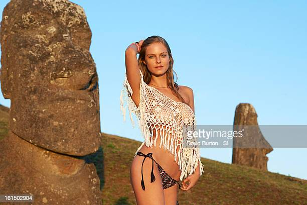 Swimsuit Issue 2013 Model Jessica Perez poses for the 2013 Sports Illustrated Swimsuit issue on October 27 2012 on Easter Island Chile PUBLISHED...
