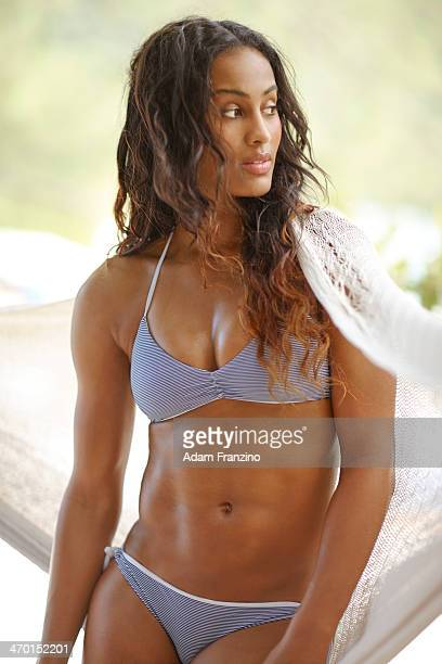 Swimsuit Issue 2014: Basketball player Skylar Diggins poses for the 2014 Sports Illustrated Swimsuit issue on November 20, 2013 on Guana Island....