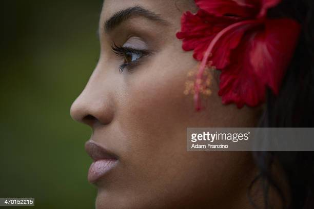 Swimsuit Issue 2014 Basketball player Skylar Diggins poses for the 2014 Sports Illustrated Swimsuit issue on November 20 2013 on Guana Island...