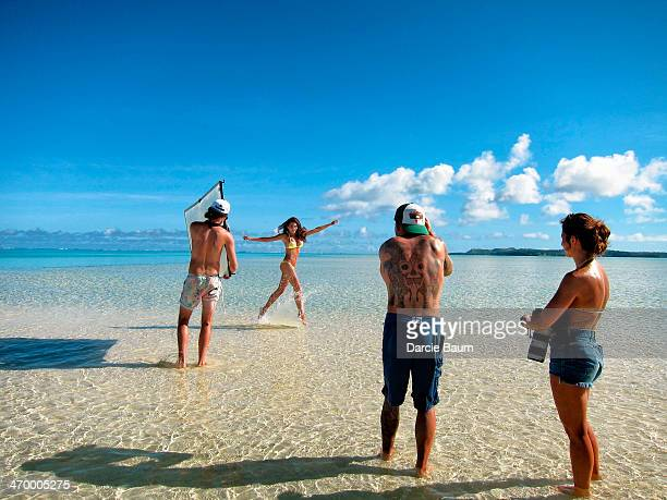 Swimsuit Issue 2014 Behind the scenes of the 2014 Sports Illustrated Swimsuit issue are photographed on October 29 2013 in Aitutaki Cook Island...