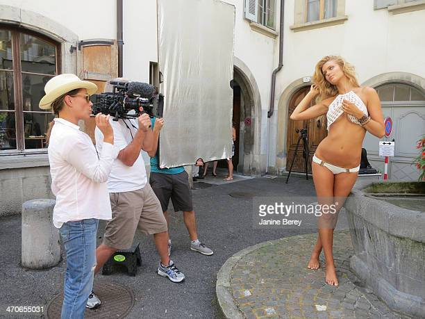Swimsuit Issue 2014 Behind the scenes of the 2014 Sports Illustrated Swimsuit issue are photographed on December 17 2013 in Montreux Switzerland...