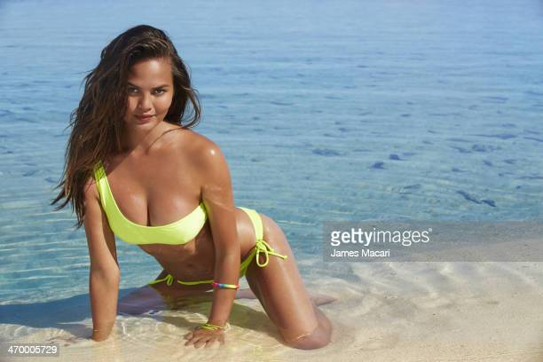 Swimsuit Issue 2014 Model Chrissy Teigen poses for the 2014 Sports Illustrated Swimsuit issue on November 5 2013 in Aitutaki Cook Islands New Zealand...