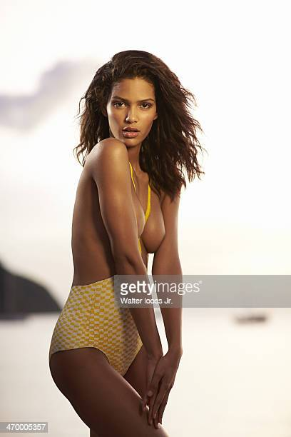 Swimsuit Issue 2014 Model Cris Urena poses for the 2014 Sports Illustrated Swimsuit issue on December 7 on Saint Lucia Body painting by Joanne Gair...