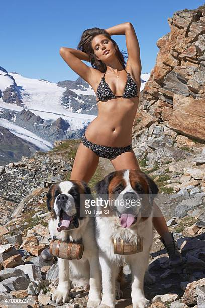 Swimsuit Issue 2014 Model Emily DiDonato poses for the 2014 Sports Illustrated Swimsuit issue on August 10 in Zermatt Switzerland PUBLISHED IMAGE...