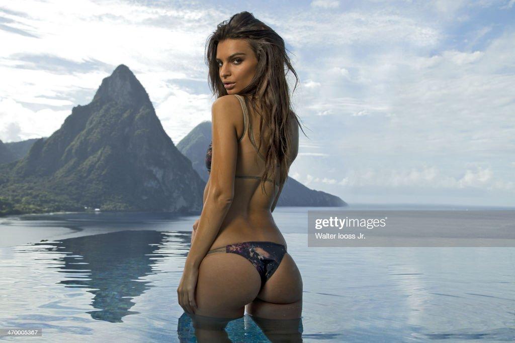 Model Emily Ratajkowski poses for the 2014 Sports Illustrated Swimsuit issue on December 3, 2013, on Saint Lucia. PUBLISHED IMAGE.