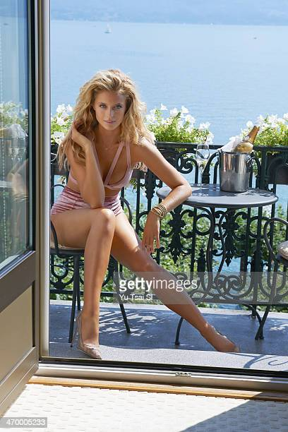 Swimsuit Issue 2014 Model Kate Bock poses for the 2014 Sports Illustrated Swimsuit issue on August 3 in Switzerland PUBLISHED IMAGE CREDIT MUST READ...