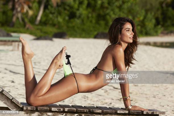 Swimsuit Issue 2014 Model Lily Aldridge poses for the 2014 Sports Illustrated Swimsuit issue on October 29 2013 in Aitutaki Cook Islands PUBLISHED...