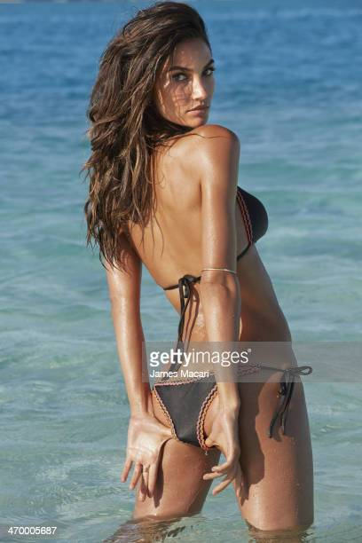 Swimsuit Issue 2014 Model Lily Aldridge poses for the 2014 Sports Illustrated Swimsuit issue on October 30 2013 in Aitutaki Cook Islands PUBLISHED...