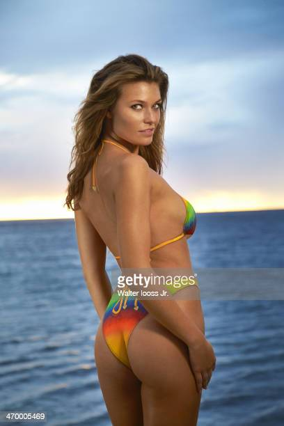 Swimsuit Issue 2014 Model Samantha Hoopes poses for the 2014 Sports Illustrated Swimsuit issue on December 4 on Saint Lucia Body painting by Joanne...