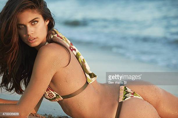 Swimsuit Issue 2014 Model Sara Sampaio poses for the 2014 Sports Illustrated Swimsuit issue on September 5 2013 in Wildwood New Jersey PUBLISHED...