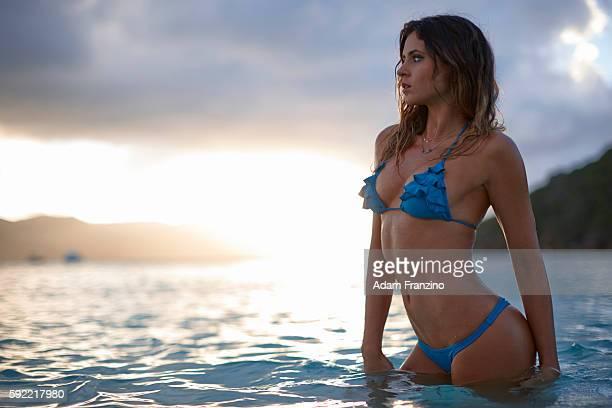 Swimsuit Issue 2014 Surfer Anastasia Ashley poses for the 2014 Sports Illustrated Swimsuit issue on November 19 2013 on Guana Island PUBLISHED IMAGE...