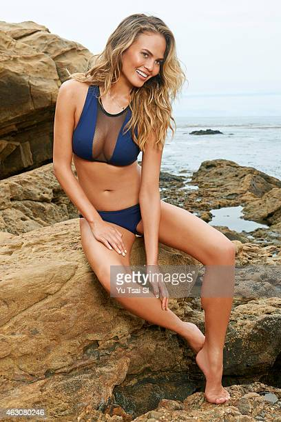 Swimsuit Issue 2015 Model Chrissy Teigen poses for the 2015 Sports Illustrated Swimsuit issue on July 19 2014 in the United States Swimsuit by Tavik...