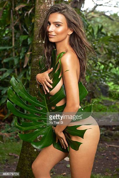 Swimsuit Issue 2015 Model Emily Ratajkowski poses for the 2015 Sports Illustrated Swimsuit issue on April 26 2014 in Kauai Hawaii PUBLISHED IMAGE...