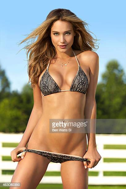 Swimsuit Issue 2015 Model Hannah Davis poses for the 2015 Sports Illustrated Swimsuit issue on August 5 2014 at Blackberry Farm in Walland Tennessee...
