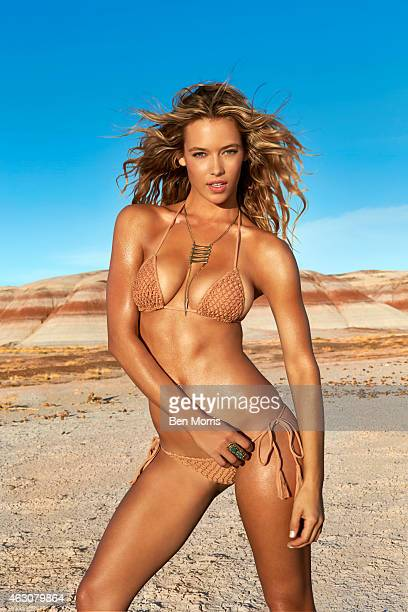 Swimsuit Issue 2015 Model Hannah Ferguson poses for the 2015 Sports Illustrated Swimsuit issue on May 19 2014 on Route 66 Swimsuit by Acacia Swimwear...