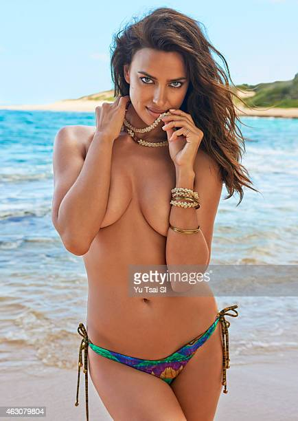 Swimsuit Issue 2015 Model Irina Shayk poses for the 2015 Sports Illustrated Swimsuit issue on April 28 2014 in Kauai Hawaii Swimsuit by La Isla...